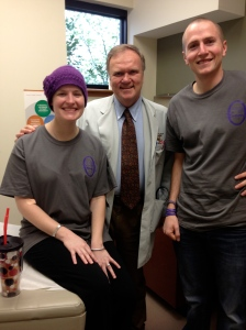 Me, Dr. Webb, & Ben.  Happy smiles after shedding some happy tears :)  Remission is a beautiful word.